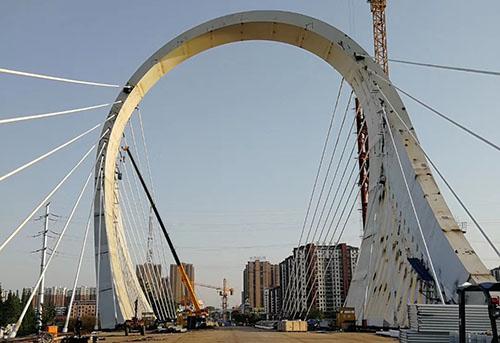 淮安大运河桥施工现场